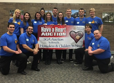 Members of the SGA auction team