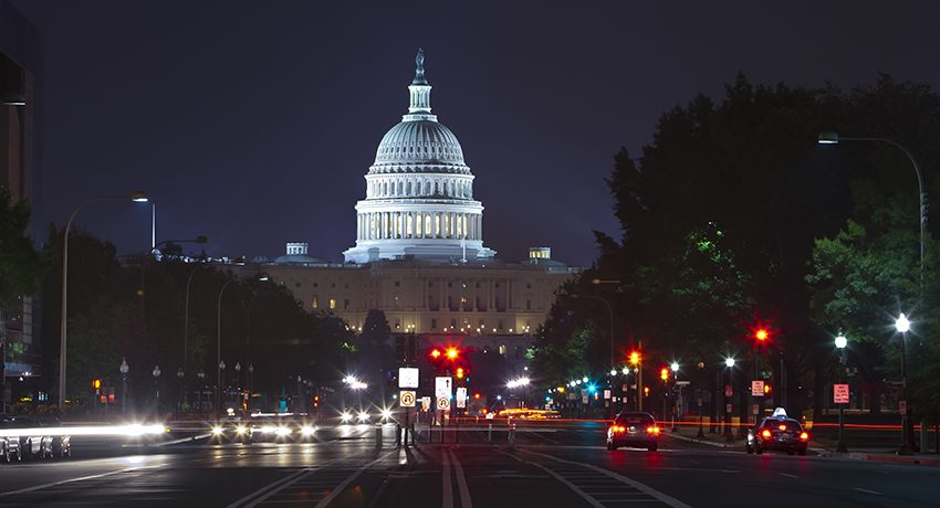 U.S. Capitol seen from Pennsylvania Avenue