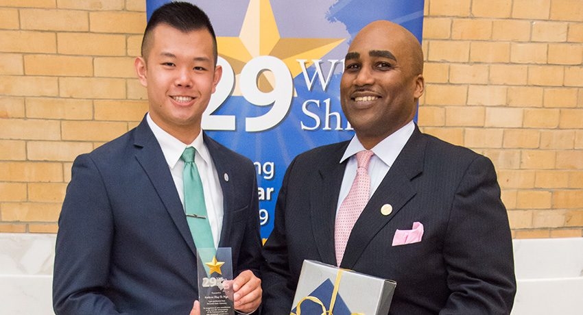 Andrew Ngo with Jason Grant at the 29 Who Shine ceremony