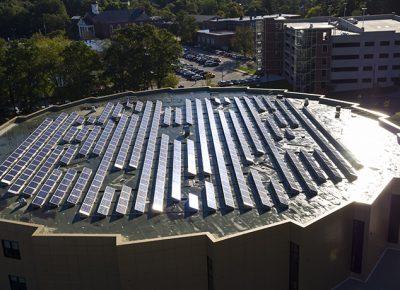 Worcester State University solar panels
