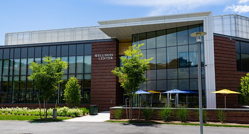exterior of the Wellness Center on Worcester State campus