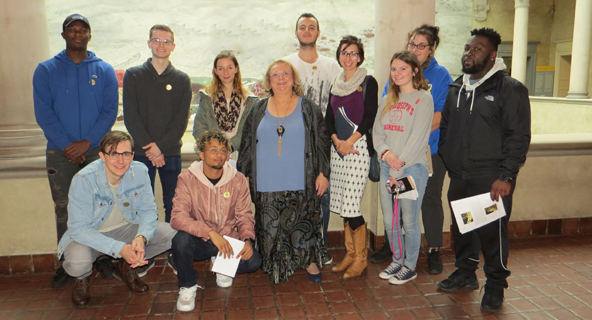 Worcester State students in the Philosophy of Love and Sex class at Worcester Art Museum