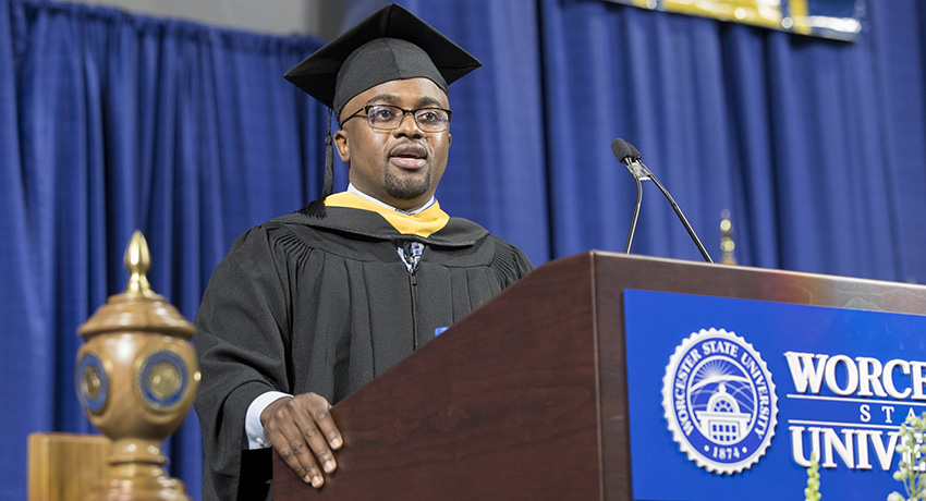 Alumnus Tells New Graduates to Remember the 'Currency of Sacrifice'