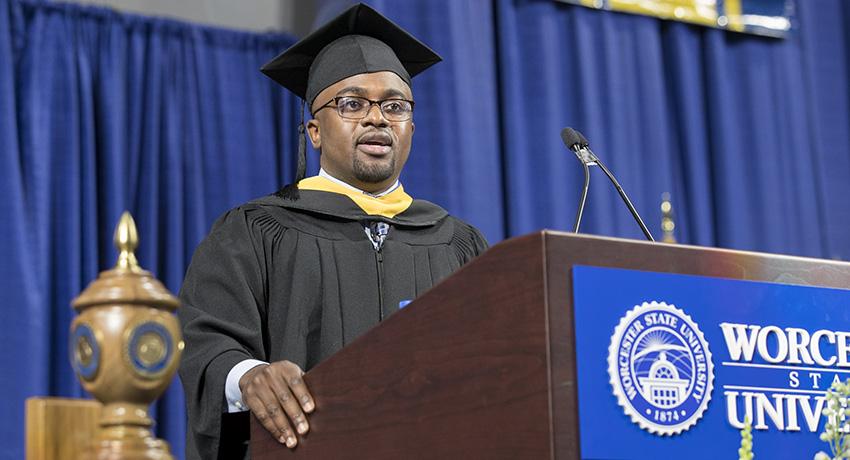 Eugene Bah, 2013 graduate of Worcester State University
