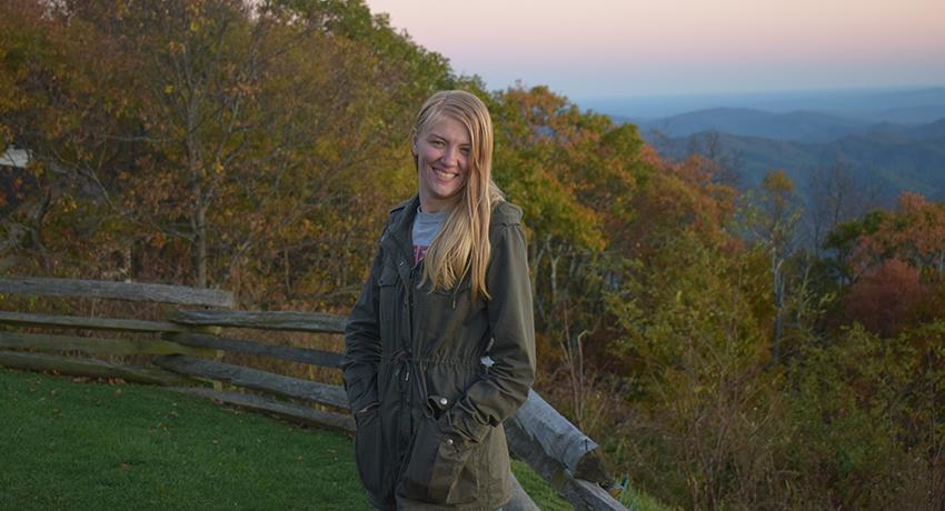 Worcester State University student Samantha Vayo