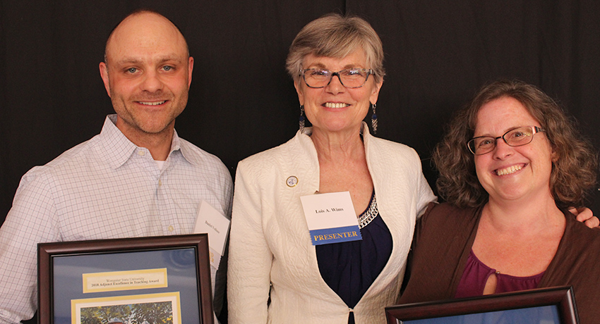 Worcester State University adjunct faculty award recipients