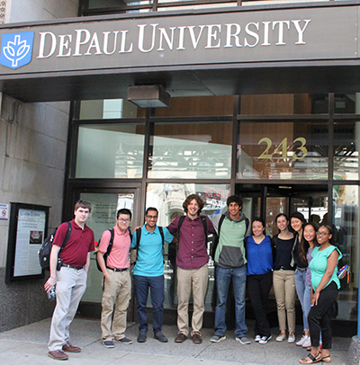 Team of undergraduate researchers at DePaul University
