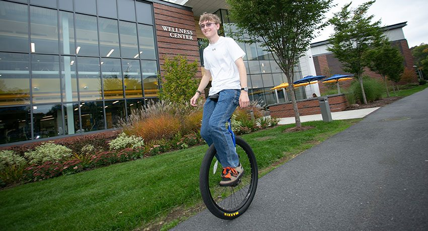 Daniel Keller and unicycle