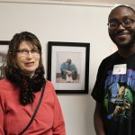 Annan and Catherine Wilcox-Titus, VPA professor and director of the Mary Cosgrove Dolphin Gallery at Worcester State.