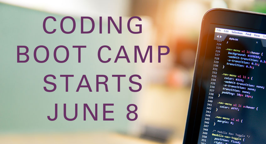 Coding Bootcamp starts June 8