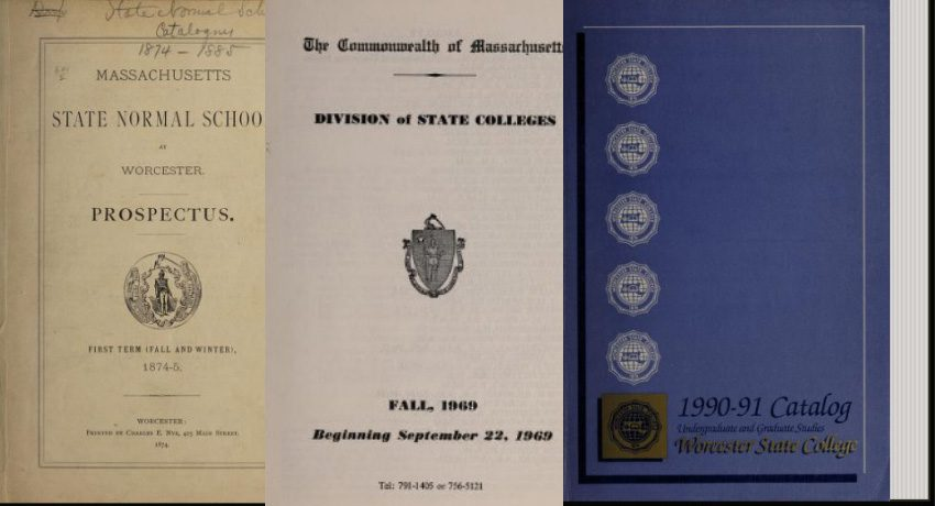 Historic Worcester State catalogs