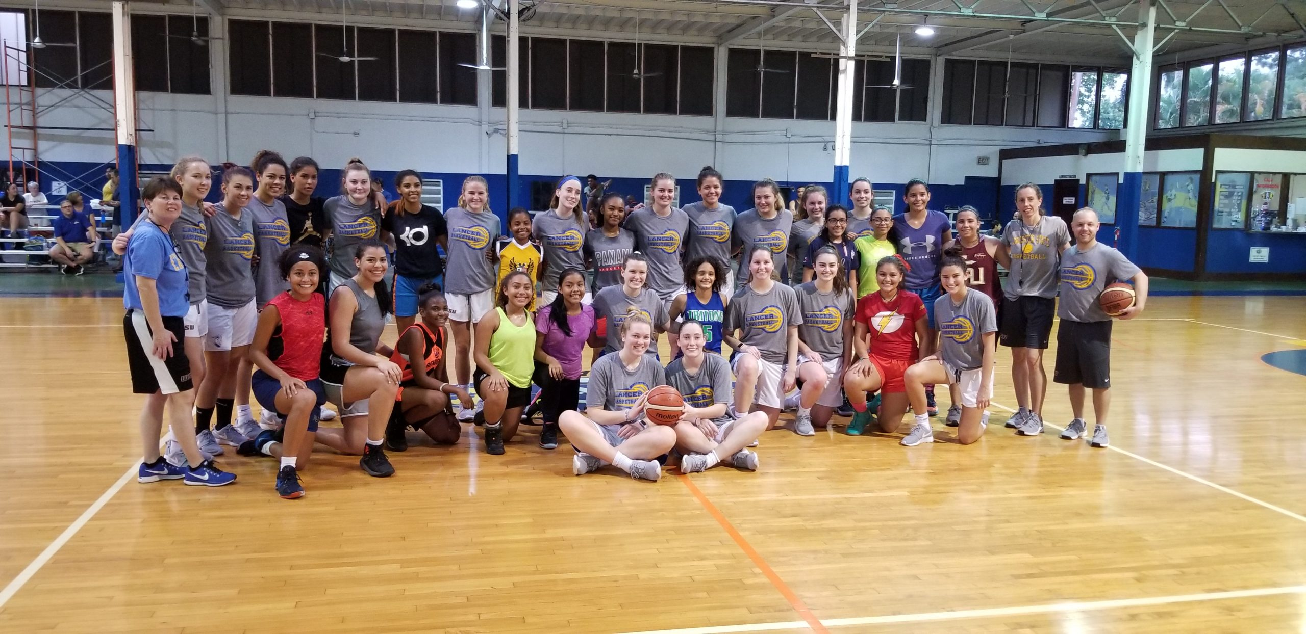 Women's Basketball Team Enjoys Competition and Service in Panama