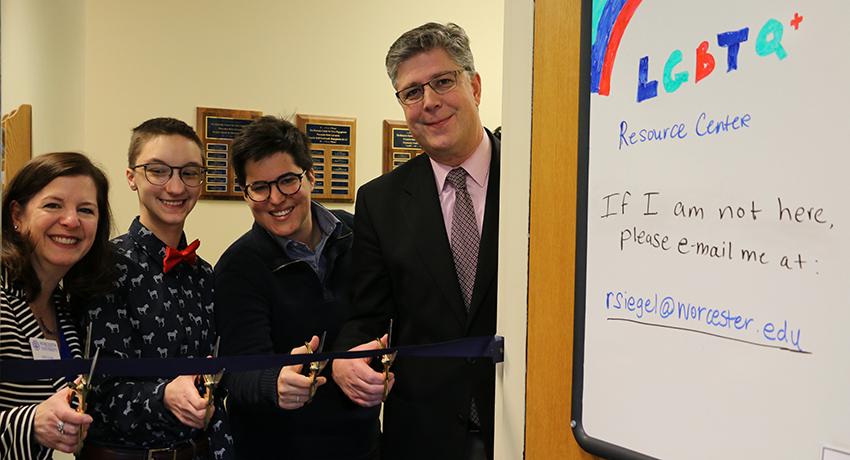 LGBTQ Resource Room Ribbon Cutting