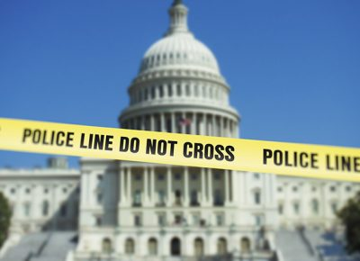 U.S. Capitol with police tape