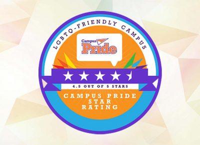 4.5/5 on the Campus Pride Index